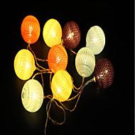 tanie Taśmy świetlne LED-1.5m Łańsuchy świetlne 10 Diody LED Ciepła biel Dekoracyjna Zasilane baterie AA 1szt