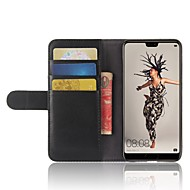 お買い得  携帯電話ケース-ケース 用途 Huawei P20 lite P20 Pro カードホルダー ウォレット スタンド付き フリップ 磁石バックル フルボディーケース ソリッド ハード 本革 のために Huawei P20 lite Huawei P20 Pro Huawei P20 P10