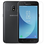 お買い得  Samsung 用スクリーンプロテクター-スクリーンプロテクター Samsung Galaxy のために J2 PRO 2018 PET 強化ガラス 2 PCS フロント&カメラレンズプロテクター アンチグレア 指紋防止 傷防止 防爆 硬度9H ハイディフィニション(HD)