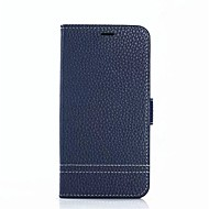 Недорогие Чехлы и кейсы для Galaxy S8 Plus-Кейс для Назначение SSamsung Galaxy S8 Plus / S8 Бумажник для карт / со стендом Чехол Сплошной цвет Твердый Настоящая кожа для S8 Plus / S8 / S7 edge