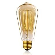 cheap LED Filament Bulbs-1pc 40W E27 E26/E27 ST64 Warm White 2300 K Incandescent Vintage Edison Light Bulb 110-130V 220-240V V