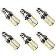 お買い得  -BRELONG® 6本 5W 500lm E14 LEDコーン型電球 80 LEDビーズ SMD 3014 温白色 ホワイト 220-240V