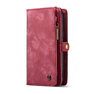 Недорогие Чехлы и кейсы для Galaxy S9 Plus-Кейс для Назначение SSamsung Galaxy S9 Plus Бумажник для карт Кошелек со стендом Флип Магнитный Чехол Сплошной цвет Твердый Настоящая кожа