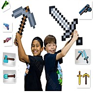 abordables Figuras de acción y Modelos-Minecraft Toys Sword Pick Axe Anime y manga Simple PEVA Chico Chica Juguet Regalo 1 pcs