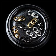 1 Nail Jewelry Metallic Classic Style Fastness Simple Metal / Plating / Dry flower Comfortable Dailywear Nail Art Design