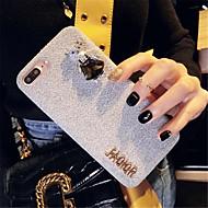 Недорогие Кейсы для iPhone 8 Plus-Кейс для Назначение Apple iPhone X iPhone 7 Plus Стразы С узором Кейс на заднюю панель 3D в мультяшном стиле Мягкий текстильный для
