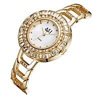 저렴한 -ASJ 여성용 패션 시계 캐쥬얼 시계 일본어 석영 모조 다이아몬드 스테인레스 스틸 밴드 캐쥬얼 패션 실버 골드