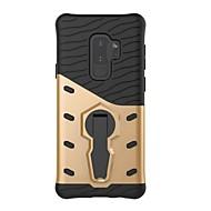 Недорогие Чехлы и кейсы для Galaxy S7 Edge-Кейс для Назначение SSamsung Galaxy S9 Plus / S9 Защита от удара / со стендом Кейс на заднюю панель броня Твердый ПК для S9 / S9 Plus / S8 Plus