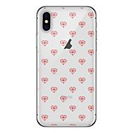 Недорогие Кейсы для iPhone 8 Plus-Кейс для Назначение Apple iPhone X iPhone 8 Plus С узором Кейс на заднюю панель Плитка С сердцем Мягкий ТПУ для iPhone X iPhone 8 Pluss