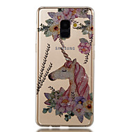 Недорогие Чехлы и кейсы для Galaxy A3(2017)-Кейс для Назначение SSamsung Galaxy A8 2018 A8 Plus 2018 IMD С узором Кейс на заднюю панель единорогом Сияние и блеск Мягкий ТПУ для A3