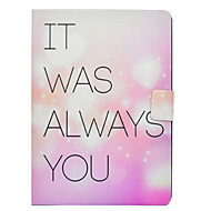 cheap iPad  Cases / Covers-Case For Apple iPad 10.5 iPad Pro 9.7 Card Holder with Stand Flip Pattern Full Body Cases Word / Phrase Heart Hard PU Leather for iPad