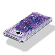 Недорогие Чехлы и кейсы для Galaxy S8-Кейс для Назначение SSamsung Galaxy S8 Plus / S8 Защита от удара / Движущаяся жидкость / С узором Кейс на заднюю панель Ловец снов / Сияние и блеск Мягкий ТПУ для S8 Plus / S8 / S7 edge