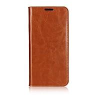 Недорогие Чехлы и кейсы для Galaxy A5(2017)-Кейс для Назначение SSamsung Galaxy A8 2018 A5(2017) Бумажник для карт Кошелек Чехол Сплошной цвет Твердый Настоящая кожа для A3 (2017)