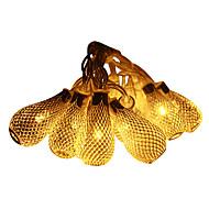 お買い得  -JIAWEN 5m ストリングライト 20 LED Dip LED 温白色 防水 220 V / 110 V / # / IP44