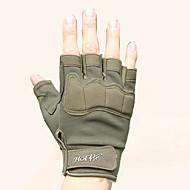 Half-finger Men's Motorcycle Gloves Fiber Wearable Non-Skid Breathability