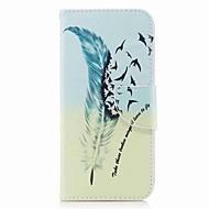Недорогие Чехлы и кейсы для Galaxy A7(2017)-Кейс для Назначение SSamsung Galaxy A8 Plus 2018 / A8 2018 Кошелек / Бумажник для карт / со стендом Чехол  Перья Твердый Кожа PU для A3 (2017) / A5 (2017) / A7 (2017)