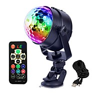 cheap LED Stage Lights-1 set 4 W 4 LED Beads Remote Control / RC LED Stage Light / Spot Light RGB Commercial Living Room / Dining Room Bedroom