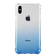 Недорогие Кейсы для iPhone 8 Plus-Кейс для Назначение Apple iPhone X iPhone 8 Защита от удара Прозрачный Кейс на заднюю панель Сплошной цвет Мягкий ТПУ для iPhone X iPhone