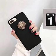 Недорогие Кейсы для iPhone 8-Кейс для Назначение Apple iPhone X iPhone 7 Plus С узором Кейс на заднюю панель Сплошной цвет Твердый ПК для iPhone X iPhone 8 Pluss