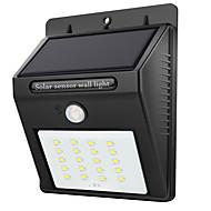 preiswerte LED Solarleuchten-1pc 2W LED-Solarleuchten Infrarot-Sensor Wasserfest Lichtsteuerung Außenbeleuchtung Weiß DC3.7V