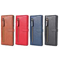 Недорогие Чехлы и кейсы для Galaxy Note 8-Кейс для Назначение SSamsung Galaxy Note 8 Бумажник для карт Кошелек со стендом Флип Чехол Сплошной цвет Твердый Кожа PU для Note 8