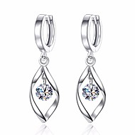cheap Jewelry & Watches-Women's Leaf Cubic Zirconia Drop Earrings - Basic Fashion Leaf For Daily Ceremony
