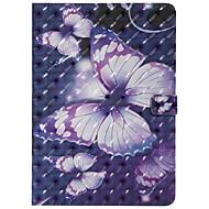 olcso iPad tokok-Case Kompatibilitás Apple iPad 10.5 iPad Pro 9.7 Kártyatartó Állvánnyal Flip Minta Automatikus alvó állapot/felébredés Héjtok Pillangó