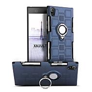 お買い得  携帯電話ケース-ケース 用途 Sony Xperia XA1 Ultra 耐衝撃 バンカーリング 360°ローテーション バックカバー 純色 ハード PC のために Sony Xperia XA1 Ultra