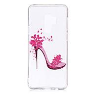Недорогие Чехлы и кейсы для Galaxy S7-Кейс для Назначение SSamsung Galaxy S9 S9 Plus IMD С узором Прозрачный Body Кейс на заднюю панель Плитка Мягкий ТПУ для S9 Plus S9 S8