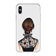 Недорогие Кейсы для iPhone 8-Кейс для Назначение Apple iPhone X / iPhone 8 Plus С узором Кейс на заднюю панель Соблазнительная девушка / Мультипликация Мягкий ТПУ для iPhone X / iPhone 8 Pluss / iPhone 8