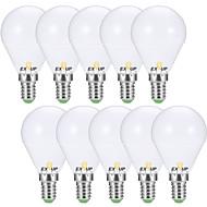 お買い得  LED ボール型電球-EXUP® 10個 7W 680lm E14 E26 / E27 LEDボール型電球 G45 6 LEDビーズ SMD 2835 装飾用 温白色 クールホワイト 110-130V 220-240V