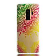 Недорогие Чехлы и кейсы для Galaxy S9-Кейс для Назначение SSamsung Galaxy S9 S9 Plus IMD Прозрачный С узором Сияние и блеск Кейс на заднюю панель Мандала Сияние и блеск Мягкий