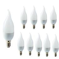 お買い得  LED キャンドルライト-10個 2W 200lm E14 LEDキャンドルライト C35L 10 LEDビーズ SMD 2835 装飾用 温白色 クールホワイト 220-240V