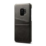 Недорогие Чехлы и кейсы для Galaxy S8-Кейс для Назначение SSamsung Galaxy S9 S9 Plus Бумажник для карт Защита от удара Кейс на заднюю панель Сплошной цвет Твердый Кожа PU для