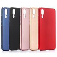 お買い得  携帯電話ケース-ケース 用途 Huawei P20 Pro P20 つや消し バックカバー ソリッド ハード PC のために Huawei P20 lite Huawei P20 Pro Huawei P20