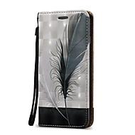 Недорогие Кейсы для iPhone 8-Кейс для Назначение Apple iPhone X iPhone 8 Plus Бумажник для карт Кошелек Флип Чехол Перья Твердый Кожа PU для iPhone X iPhone 8 Pluss