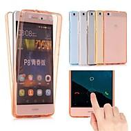 お買い得  携帯電話ケース-ケース 用途 Huawei P10 Lite P10 Plus 超薄型 半透明 フルボディーケース ソリッド ソフト TPU のために P10 Plus P10 Lite P10 P9 lite mini Huawei P9 Lite Huawei P9 Huawei P8