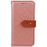 Недорогие Чехлы и кейсы для Galaxy Note 8-Кейс для Назначение SSamsung Galaxy Note 8 Бумажник для карт со стендом Флип Рельефный Чехол Цветы Твердый Кожа PU для Note 8