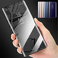 Недорогие Чехлы и кейсы для Galaxy S-Кейс для Назначение SSamsung Galaxy S9 S9 Plus со стендом Зеркальная поверхность Чехол Однотонный Твердый ПК для S9 Plus S9 S8 Plus S8 S7