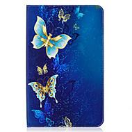 voordelige Galaxy Tab E 9.6 Hoesjes / covers-hoesje Voor Samsung Galaxy Tab E 9.6 Kaarthouder Portemonnee met standaard Patroon Auto Slapen / Ontwaken Volledig hoesje Vlinder Hard