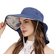お買い得  -VEPEAL ハイキング キャップ ランニングキャップキャップ 帽子 広いつば ライトウェイト 防風 サンスクリーン UV耐性 ソリッド ファッション POLY ナイロン 春 のために 女性用 釣り ハイキング 旅行 ダークブルー / 高通気性 / 高通気性