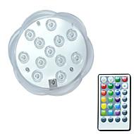 お買い得  -brelong®1pc 3w 12leds水中ライトリモートコントロール防水装飾スイミングプールrgb 5.5v