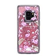 Недорогие Чехлы и кейсы для Galaxy S7-Кейс для Назначение SSamsung Galaxy S9 Plus / S9 Движущаяся жидкость Кейс на заднюю панель Фламинго Мягкий ТПУ для S9 / S9 Plus / S8 Plus