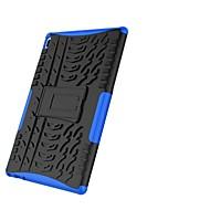 お買い得  携帯電話ケース-ケース 用途 Lenovo Tab 4 10 耐衝撃 スタンド付き 鎧 バックカバー タイル柄 鎧 ハード PC のために Lenovo Tab 4 10