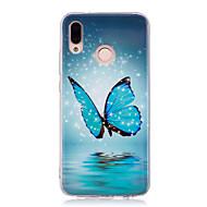 お買い得  携帯電話ケース-ケース 用途 Huawei P20 lite P20 Pro 蓄光 IMD パターン バックカバー バタフライ シャイン ソフト TPU のために Huawei P20 lite Huawei P20 Pro Huawei P20 P10 Lite P9 lite mini