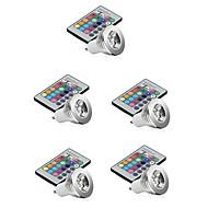 お買い得  LED スポットライト-5個 3W 250lm E14 GU10 GU5.3 E26 / E27 LEDスポットライト 1 LEDビーズ ハイパワーLED 調光可能 装飾用 リモコン操作 RGB 85-265V