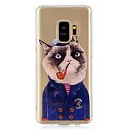 Недорогие Чехлы и кейсы для Galaxy S9-Кейс для Назначение SSamsung Galaxy S9 IMD / С узором Кейс на заднюю панель Кот Мягкий ТПУ для S9