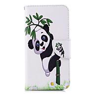 お買い得  携帯電話ケース-ケース 用途 Huawei P20 lite P20 カードホルダー ウォレット スタンド付き フリップ パターン フルボディーケース パンダ ハード PUレザー のために Huawei P20 lite Huawei P20 P10 Lite P10 P9 lite