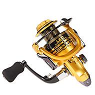 お買い得  釣り用アクセサリー-リール スピニングリール 5.11 ギア比+14 ボールベアリング 手の向き 交換可能 海釣り