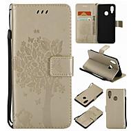 Недорогие Чехлы и кейсы для Huawei Honor-Кейс для Назначение Huawei Honor 4X / Huawei Mate S / Huawei P9 Кошелек / Бумажник для карт / со стендом Чехол дерево Твердый Кожа PU для P10 Plus / P10 Lite / P10 / Huawei P9 Plus / Huawei P9 Lite